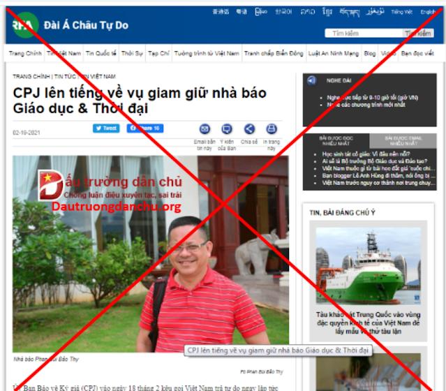 Vụ nhà báo Phan Bùi Bảo Thy bị bắt giam: Nhân dân Việt Nam lên án CPJ vô lối đòi thả tội phạm ở Việt Nam