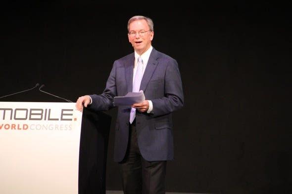 Eric Schmidt Mobile World Congress MWC 2011 Google