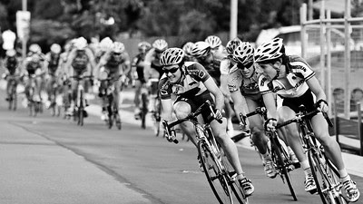 UQ Riders Peter Herzig (L) & Craig Mackey (R) - 2005 Giro de Brisbane Cycling Criterium, Carina, Brisbane, Australia; linked to the Abruzzo Club. Photos by Des Thureson: http://disci.smugmug.com. Stark Raging Black Curve.
