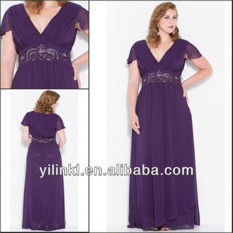 Purple Color V neck Short Sleeve Super Plus Size