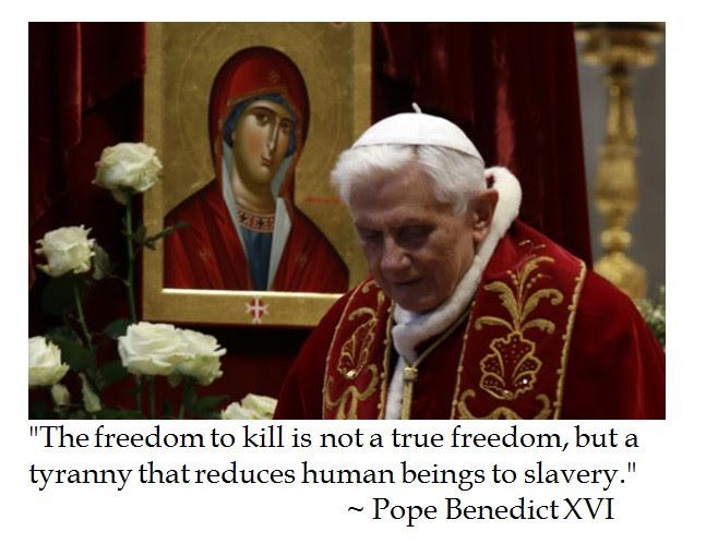 Pope Benedict XVI Freedom