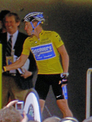 Seven times yellow jersey winner Lance Armstro...