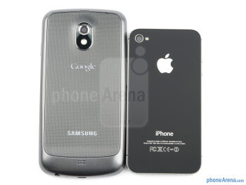 Samsung Galaxy Nexus (left, bottom) and Apple iPhone 4S (right, top) - Samsung Galaxy Nexus vs Apple iPhone 4S