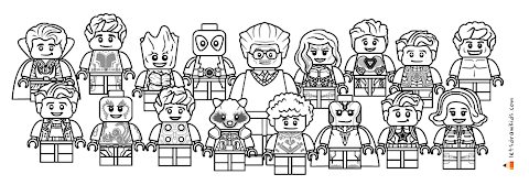 Cool Lego Avengers Coloring Pages