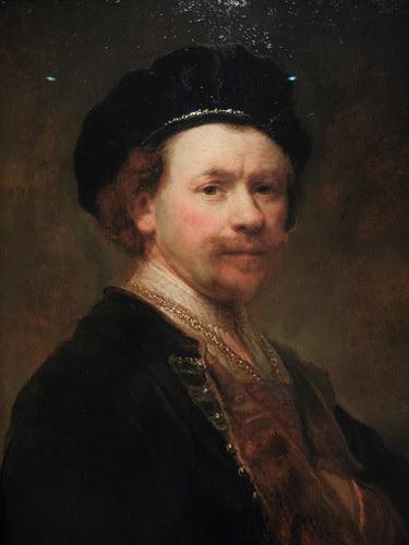 DSCN7597 _ Self-Portrait (detail), c. 1636-38, Rembrandt van Rijn (1606-1669), Norton Simon Museum, July 2013