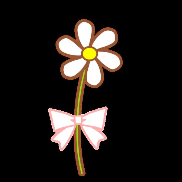 一輪の花のイラスト かわいいフリー素材が無料のイラストレイン