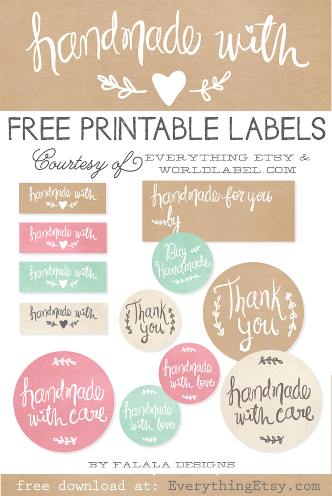 Download Free Printable Thank You Cards {Etsy Business}