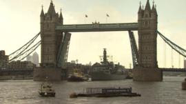 Image result for HMS Belfast marks 45 years on the River Thames