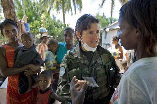 MINUSTAH Peacekeeper Dispenses Medication to Residents
