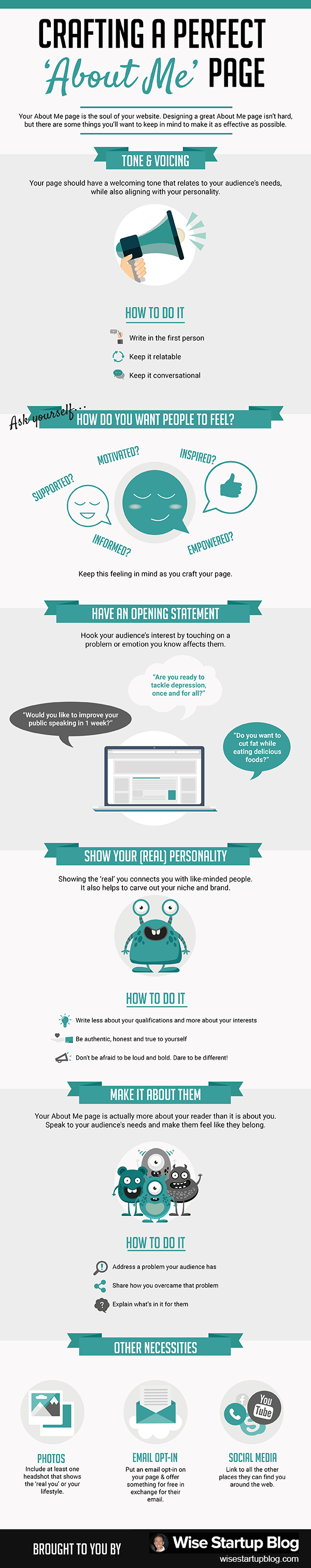 Infographic on 'About' Page