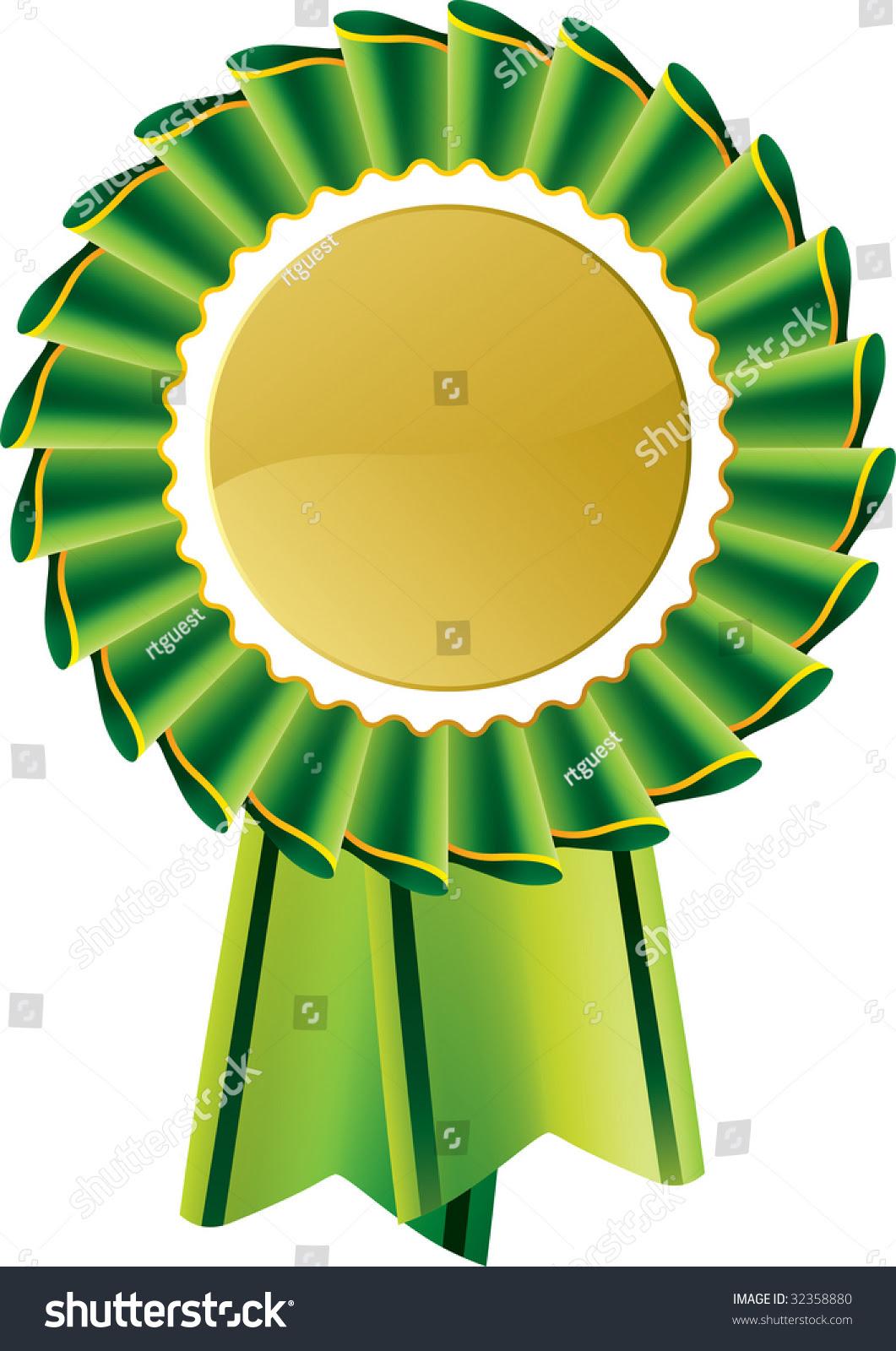 Green Award Seal Rosette Editable Vector Stock Vector 32358880 ...