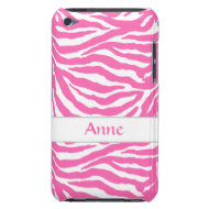 Zebra Stripes In Hot Pink On iPod Touch Case-Mate casemate_case
