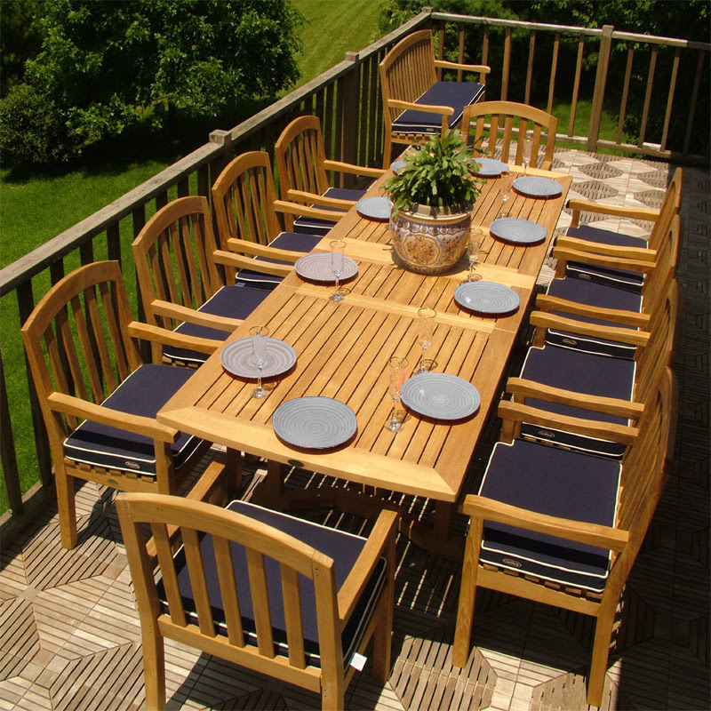 11 piece Teak Dining Set seating for 8 to 12 - Westminster ...