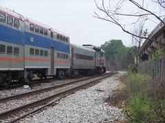 MARC train north of Rhode Island Avenue Station