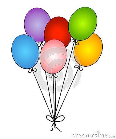 Jeneres Birthday Party Balloons Clip Art