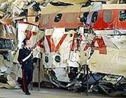 I resti del Dc9 precipitato al Largo di Ustica il 27 giugno 1980