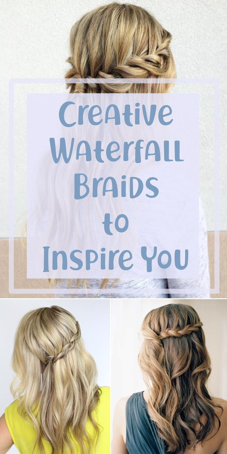 16 Creative Waterfall Braids to Inspire You