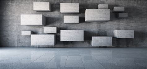 Threedimensional Square Gray Box Background, 3d, Geometry