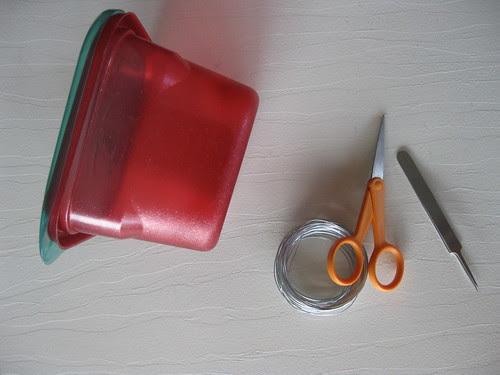 Supplies for the Homemade Hummingbird Feeder