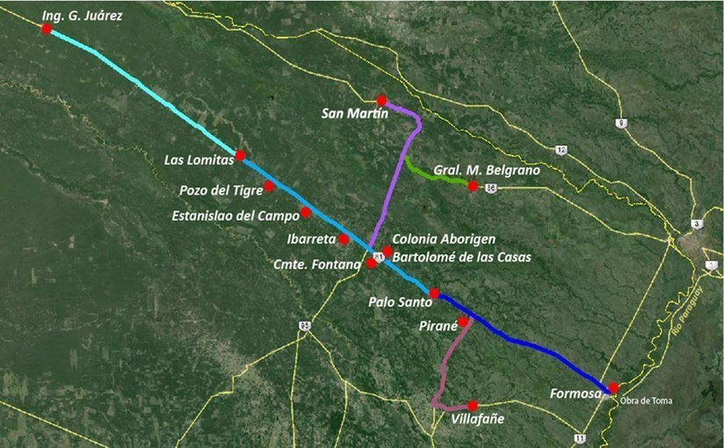 """Resultado de imagen para acueducto de 500 kilómetros """"Río Paraguay- Ingeniero Juárez"""""""