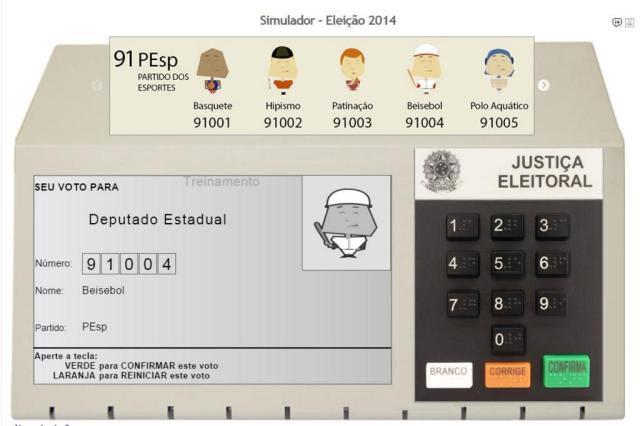 Simulador de urna eletrônica permite eleitor treinar voto na internet Reprodução/tse.jus.br