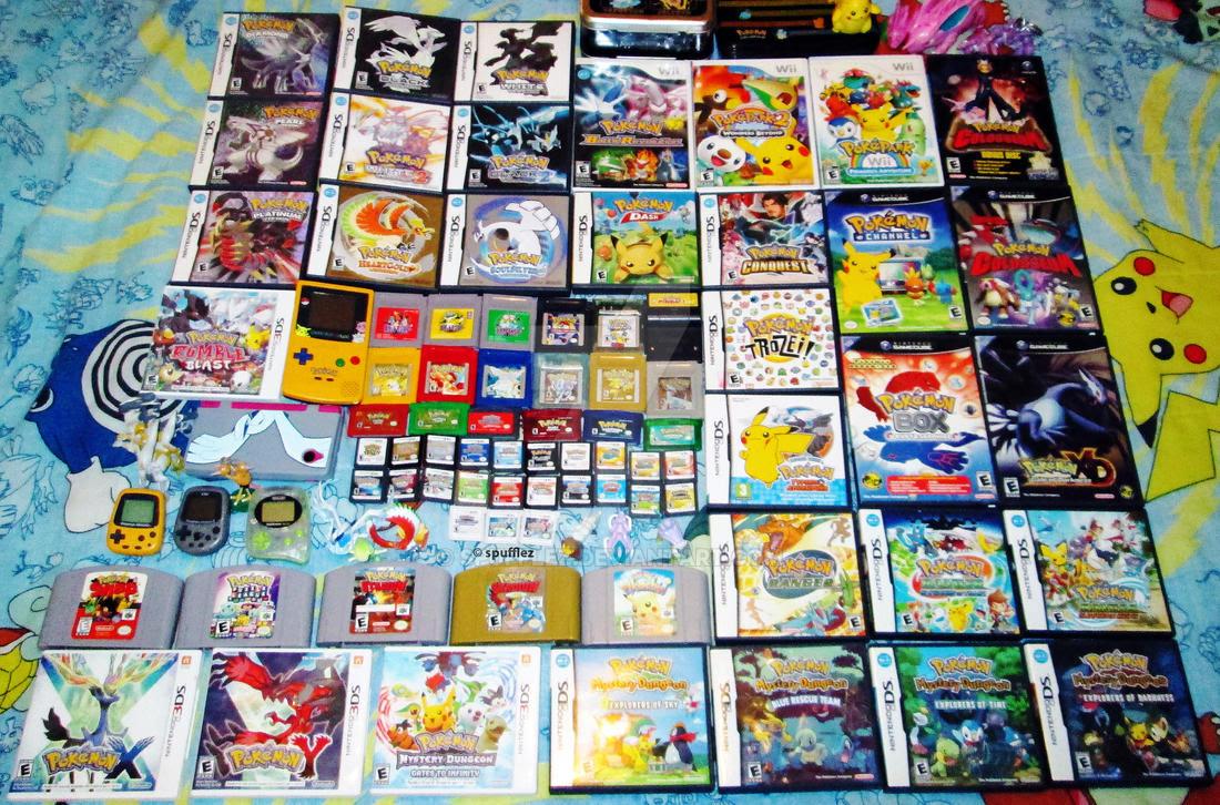 Pokemon Games Collection by Spufflez on DeviantArt