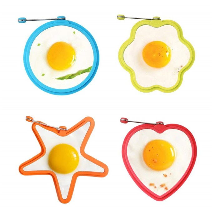 Sale  4pcs/set Thicker Silicone Mold Form For Frying Eggs Tools Breakfast Omelette Mold Device Pancake Ri