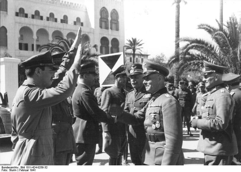 Erwin Rommel in Tripoli, February 1941