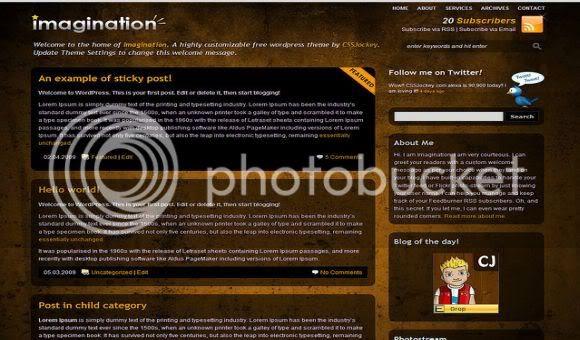 Dark Brown Magazine Wordpress Theme