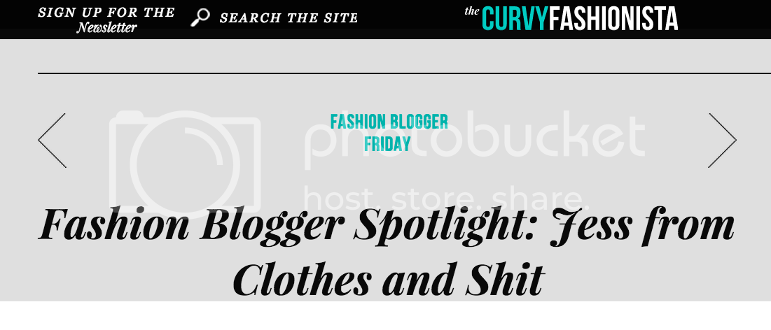 the curvy fashionista clothes and shit blogger spotlight