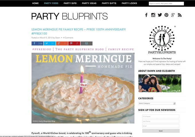 http://www.partybluprintsblog.com/the-menu/lemon-merigue-pie-family-recipe-pyrex-100th-anniversary-pyrex100/