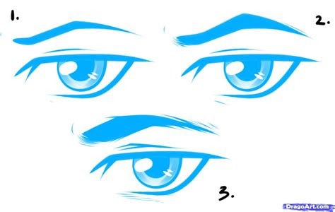 draw anime male eyes step  step anime eyes