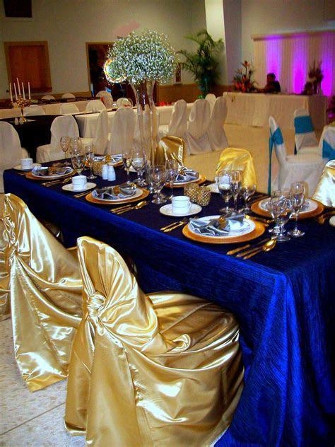 Royal Blue & Gold (not center pieces)   decorations