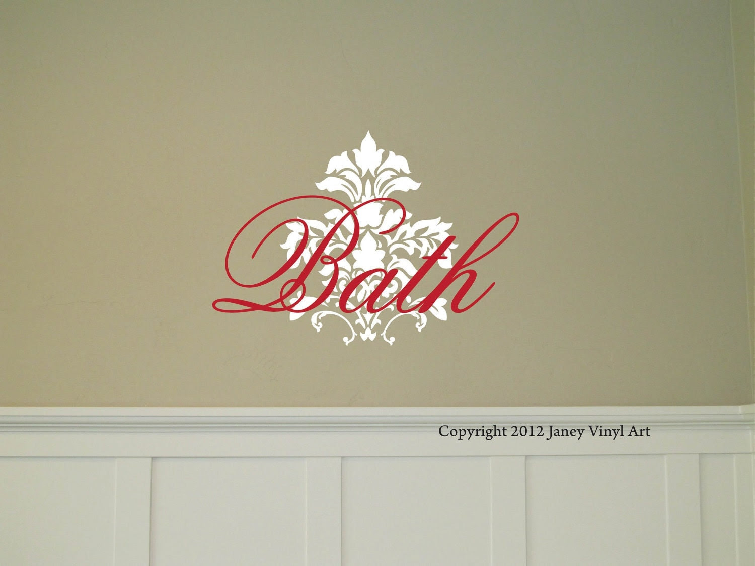 Bath Motif Bath Wall Decal Vinyl Wall Art Bath by JaneyVinylArt