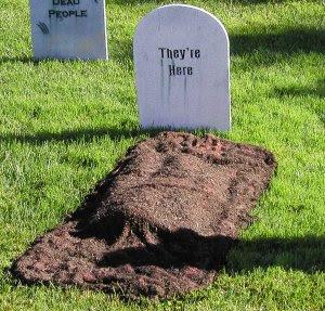 a fresh grave