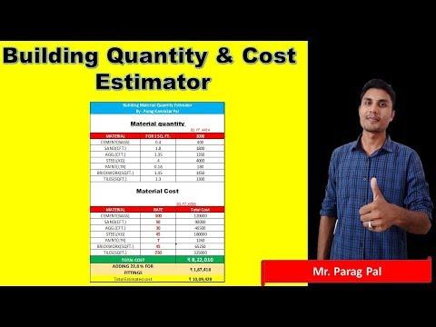 Building Quantity & Material Cost Estimator