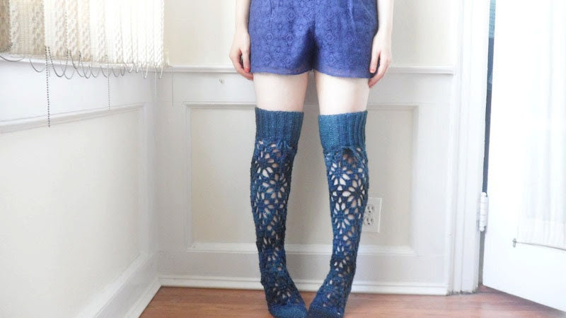 Lace Over The Knee Socks