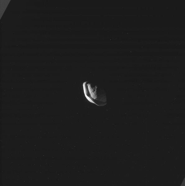 Another image of Pan orbiting within Saturn's rings...as seen by NASA's Cassini spacecraft on March 7, 2017.