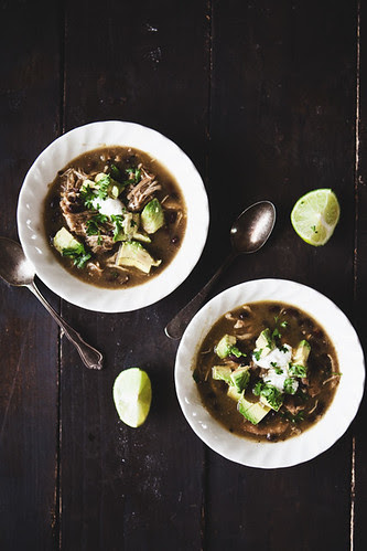 Chicken Chile Verde Soup // The Little Red House