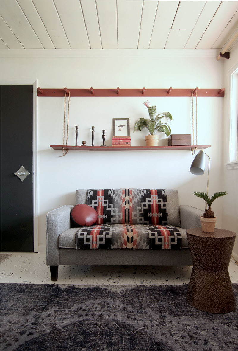 Make A Diy Peg Rail Create A Killer Small Space Seating Area