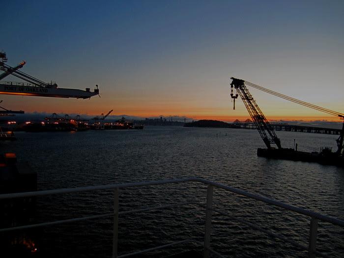 Sunset at Oakland Inner Harbor