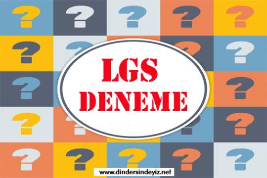 8.sınıflar için LGS denemeleri