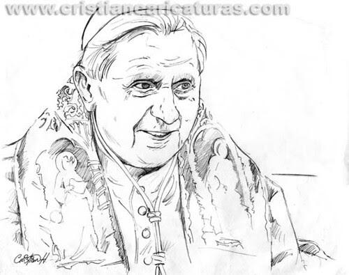 Dibujo el Papa