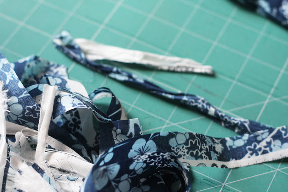 Shabby voile fabric flower tutorial
