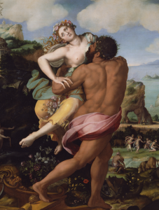 Detail, Alessandro Allori, The Abduction of Proserpine, 1570.