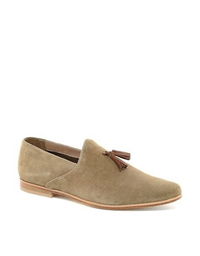 Image 1 ofASOS Suede Tassel Loafers With Leather Sole