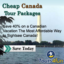 Save 40% on a Canadian Vacation