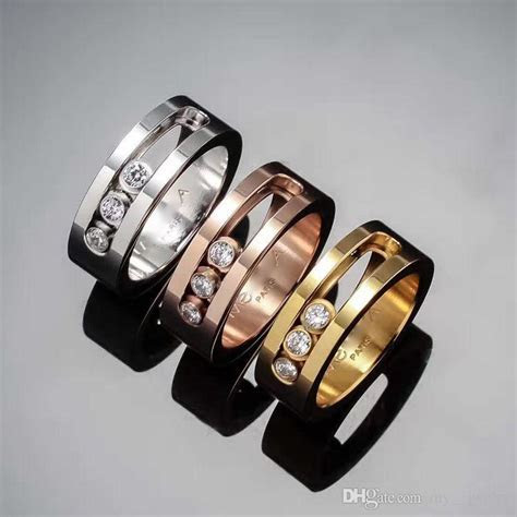 2019 Top Quality France Brand Messika Ring Titanium Steel