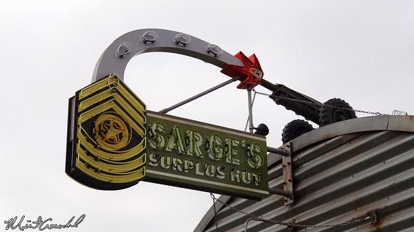 Disneyland Resort, Disney California Adventure, Cars Land, Sarge's Surplus Hut, Planes