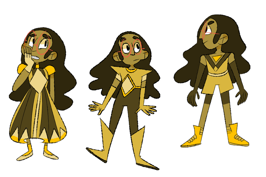 au where almost everything is the same except Connie is yellow diamonds daughter and we get three more moms